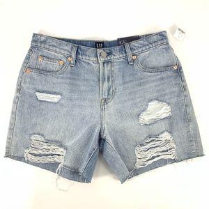 Gap Heavily Distressed Denim Shorts